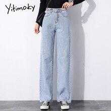 Jeans Woman Denim Leg-Pants Bottom-Clothes Lace-Up Vintage Streetwear High-Waist Wide