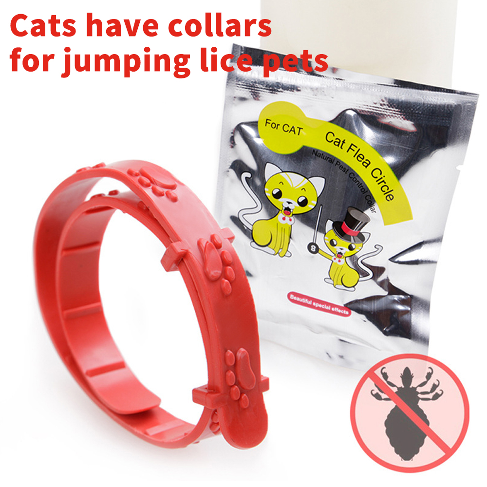 Hot Sale Cat Anti Flea Mites Collar Without Flea Toilet Tool Kitty Repair Neck Strap Pet Collar Cat Dog Accessories Red Color
