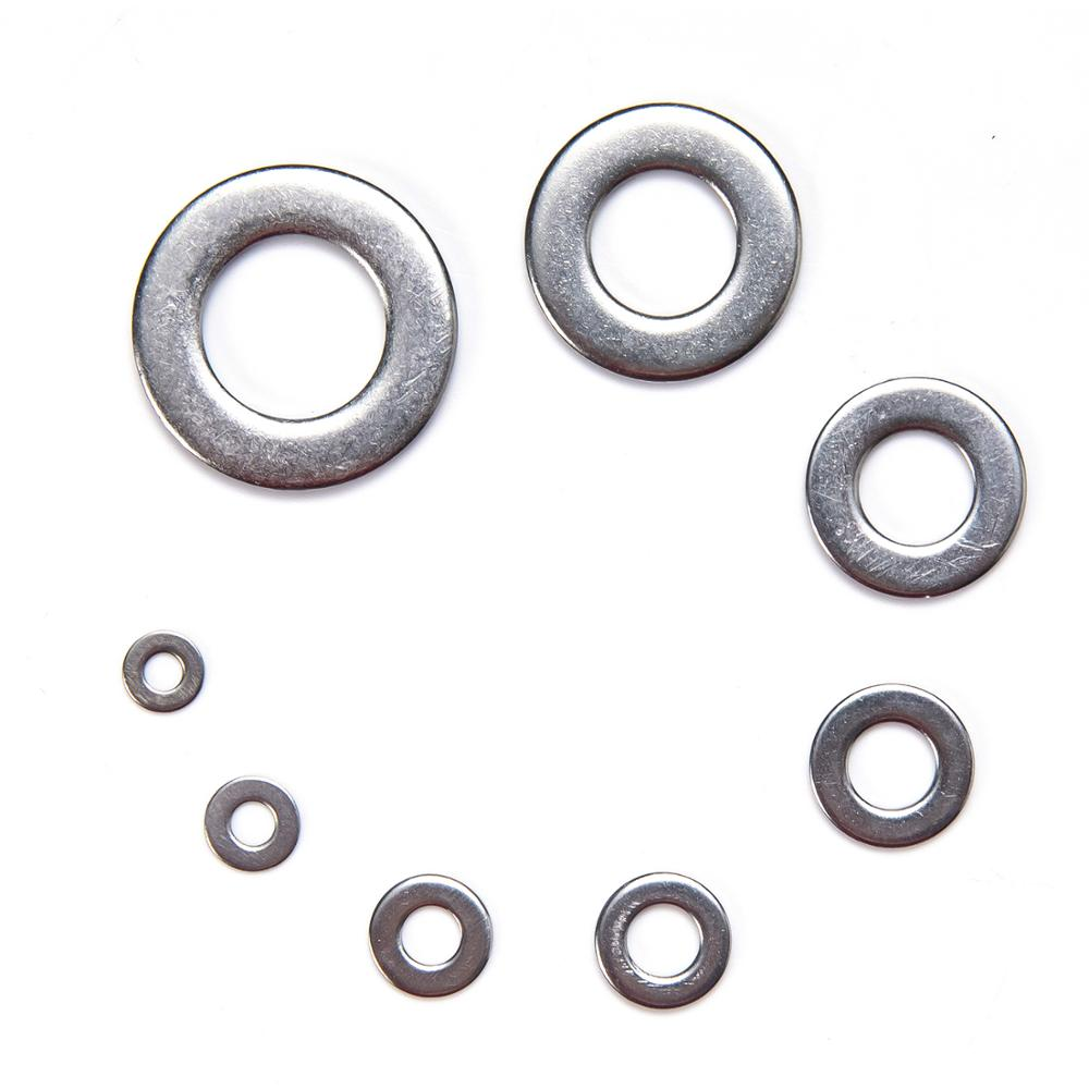 Image 2 - 1010pcs Washer Set M2 M3 M4 M5 M6 M8 M10 M12 Stainless Steel Washer Flat Washers Ring Plain Washer Gaskets Assortment Kit GB97-in Washers from Home Improvement