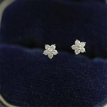 925 Sterling Silver Plated 14k Gold Pavé Crystal Five-pointed Star Earrings Women Simple Fashion Wedding Jewelry Accessories 3
