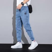 Spring Summer Black Blue Cargo Jeans Men Streetwear Denim Jogger Pants Men Baggy Harem Jean Trousers Plus Size 6XL 7XL 8XL