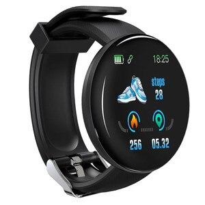 Image 1 - D18 pulseira inteligente banda rastreador de fitness heart rate mensagens de pressão arterial lembrete tela colorida à prova dwaterproof água esporte pulseira