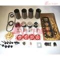 Voor MITSUBISHI K4E motor rebuild kit zuiger + ring lager pakking kit en ventiel