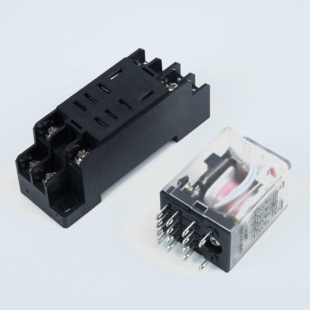 Power Relay 10A LY2NJ DPDT 8 Pins With Socket Replacement Accessory Practical