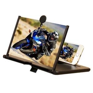 CASEIER 10/12 inch 3D Screen Amplifier For Phone Scherm Vergroter For Phone Accessories amplificador de pantalla para celular(China)