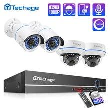 Techage H.265 8CH 1080P POE NVR zestaw System bezpieczeństwa CCTV Dome kryty odkryty 2.0MP kamera Audio P2P Onvif zestaw nadzoru wideo