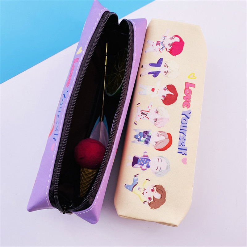 New Kpop The House Of Bangtan Boys BLACKPINK Makeup Bag PU Protable Storage Bag Coin Purse Mini Wallet Fans Gifts Makeup Bag