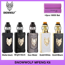 Original SnowWolf Mfeng 200W TCชุดVape 6MLถังAtomizerบุหรี่อิเล็กทรอนิกส์ชุดแบตเตอรี่Dual 18650 VSลาก2
