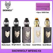 オリジナルsnowwolf mfeng 200 55w tc吸うキットと6ミリリットルタンクアトマイザー電子タバコキットサポートデュアル18650バッテリーvsドラッグ2
