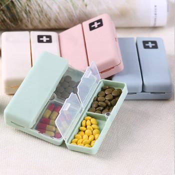 1PC pudełko na pigułki z dniami tygodnia 7 dni składany uchwyt na leki na podróż Pill Box przechowywanie tabletu Case pojemnik dozownik Organizer narzędzia tanie i dobre opinie RLQ126