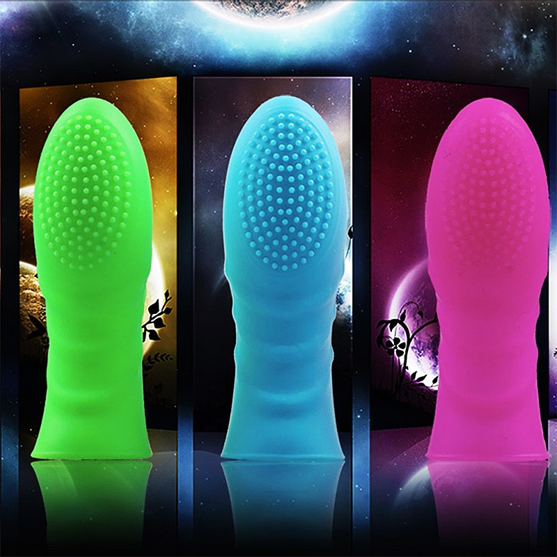 G Spot Finger Sleeve Massager Silicone Clitoris Stimulator Sex Toys For Woman Lesbian Orgasm Sex Products Female Masturbator