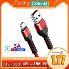 QGEEM USB Type C câble USB C téléphone portable charge rapide USB chargeur câble pour Samsung Galaxy S8 Huawei Mate 20 Xiaomi USB type c