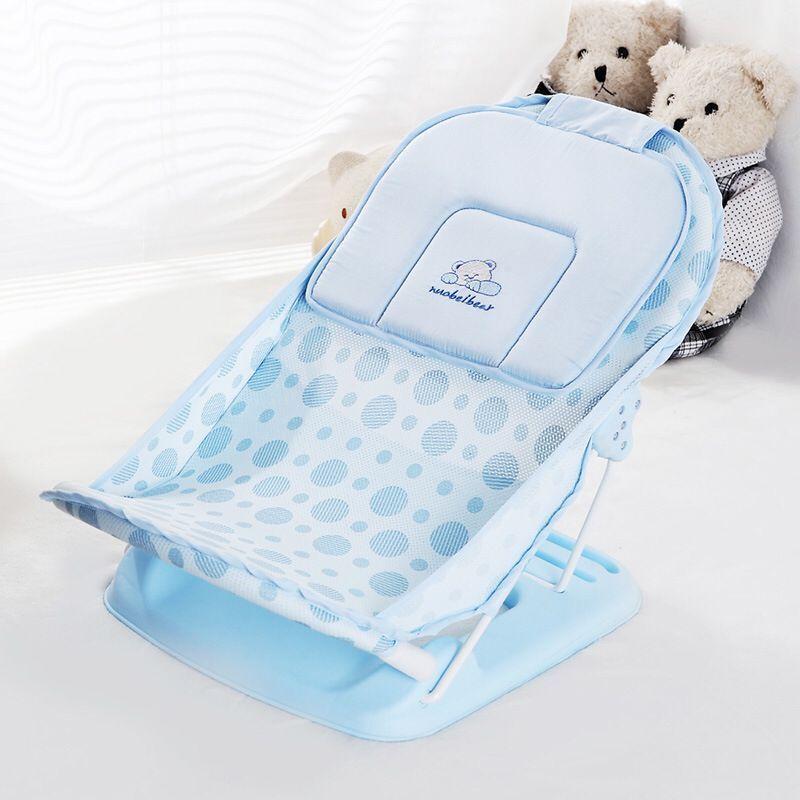 Foldable Baby bath tub bed pad Portable baby bath chair shelf baby shower nets newborn baby