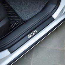 4 шт. Защитная Наклейка на порог автомобиля из углеродного волокна виниловая наклейка для Hyundai Eon автомобильные аксессуары
