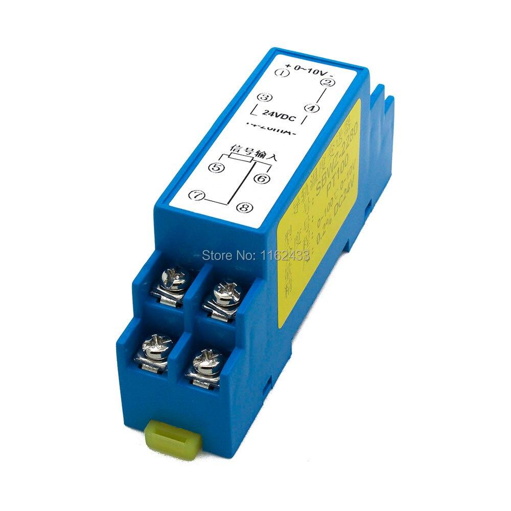 FTT03 0-10V salida PT100 módulo transmisor de temperatura SBWZ amplificador de temperatura templificador Regalo Idea despertador Digital con termómetro higrómetro humedad temperatura reloj de mesa escritorio cargador de teléfono