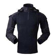 Men's Hunting Coat Tactical Combat Uniform Outdoor Shirt Military Wearing Equipment for CS Training Full Year Suitable MC Camo