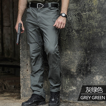 Male Elastic Training Tactical Army Pants Men's Outdoor Climbing Pocket Cotton Secret Service SWAT Combat Long Trousers Overalls