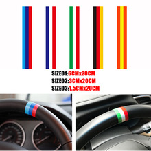 Pesonalized Car Sticker BMWColored Germany Italy Franch Spain National Flag Sticker Steering Wheel Stickers Grille Stickers