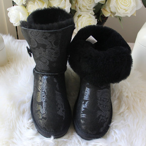 Image 3 - 2020 Fashion Top Quality Woman Snow Boots Genuine Sheepskin Leather Women Boots 100% Natural Fur  Warm Wool Winter Boots Shoes