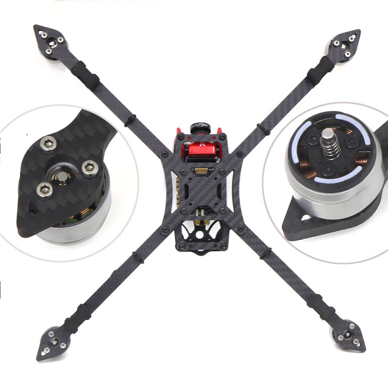 FPV 77# X328 328 328mm Full Carbon Fiber FPV Racing Quadcopter Frame Kit with 5mm arm Support 8 inch Propeller