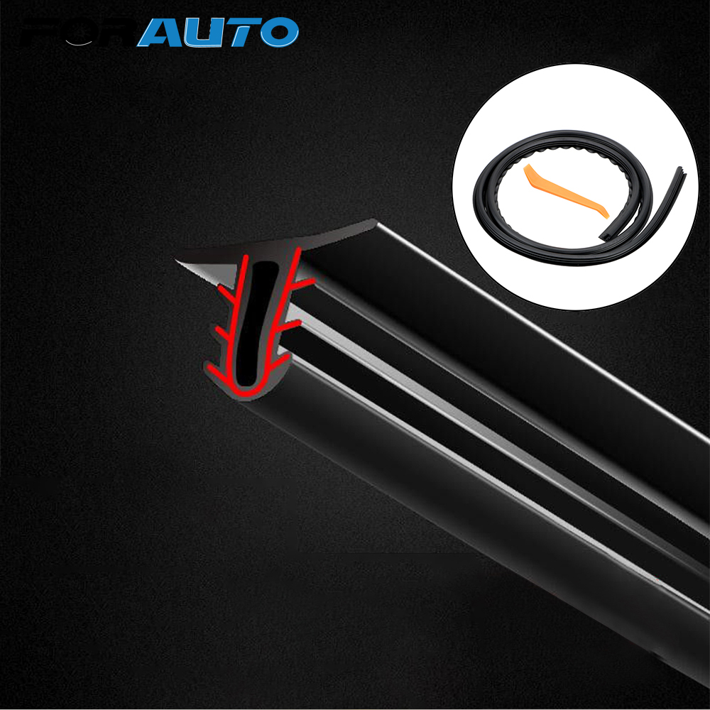 FORAUTO Universal Noise Sound Insulation Rubber Strip Auto Rubber Dashboard Seal Strip Car Stickers Filler Weatherstrip
