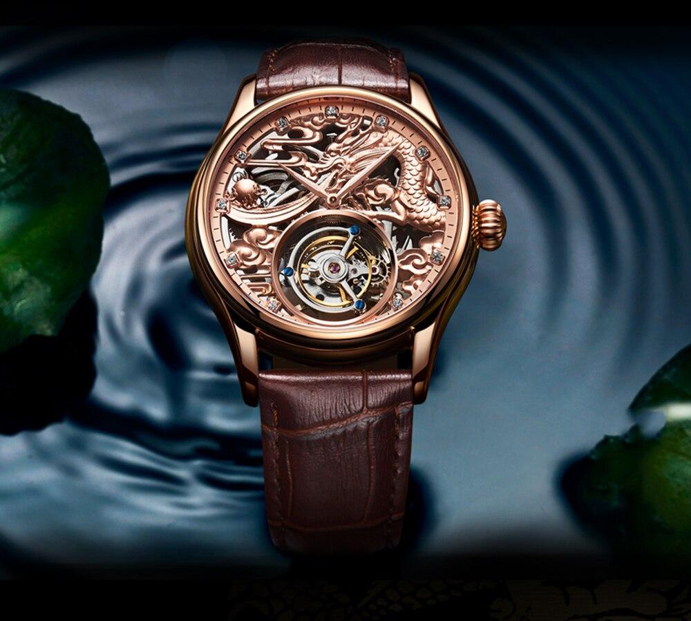 New GUANQIN Original Tourbillon watch men top brand luxury waterproof skeleton Sapphire Mechanical Tourbillon relogio masculino 22