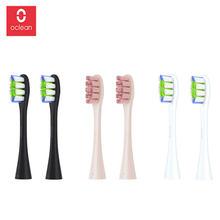 Oclean Z1 One / SE / Air / 2 szt. Wymienne główki do szczoteczki do automatyczne elektryczne soniczna szczoteczka do zębów dokładne czyszczenie końcówki do szczoteczki