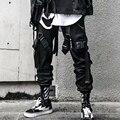 2020 jogger Cargo Hosen für Männer Casual Hip Hop Hit Farbe Tasche Männlichen Hosen Jogginghose Streetwear Bänder Techwear Hosen