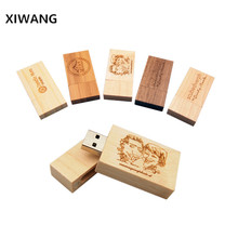 XIWANG Custom Logo Rectangular USB Flash Drive Pendrive 2.0 4GB 8GB 16GB 32GB 64GB High Speed Memory Stick usb