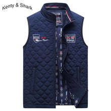Fashion Brand Kenty Shark Men's Vest Embroidery High Quality 2020 Autumn Thick Warm Vests Jackets Outerwear Plus Size 3XL 4XL