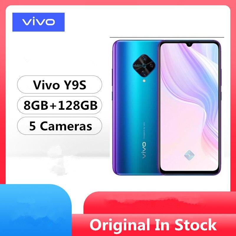 Оригинальный мобильный телефон Vivo Y9S 4G LTE, Snapdragon 665, на базе Android 9,0, экран 6,38 дюйма 2340x1080, 8 ГБ ОЗУ 128 Гб ПЗУ, сканер отпечатка пальца, 5 камер|Смартфоны|   | АлиЭкспресс