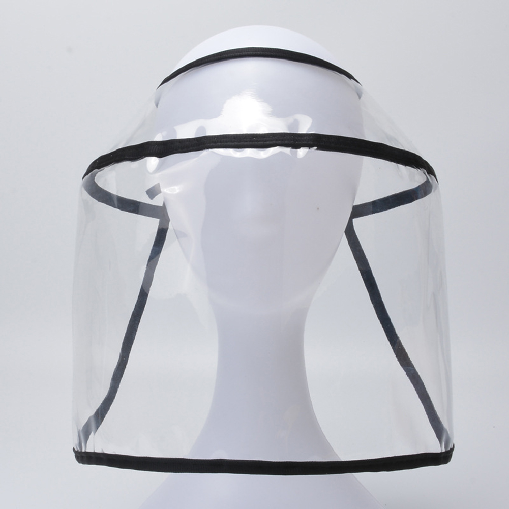 Anti-Saliva Virus Dustproof MaskTransparent PVC Safety Faces Shields Screen Spare Visors Head Face Respiratory Tract Protection