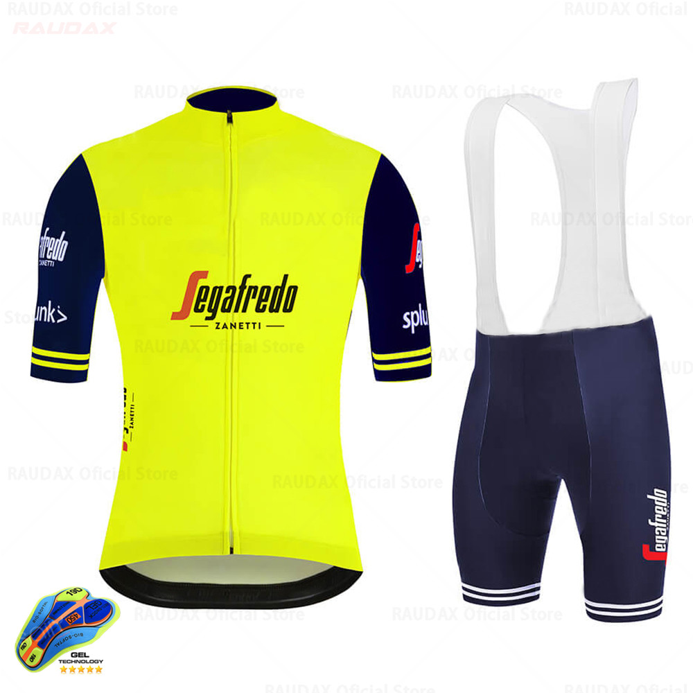 Trekking SEGAFREDO 2020 Pro Team Cycling Jersey Set Men's Cycling Clothing MTB Cycling Bib Shorts Bike Jersey Set Ropa Ciclismo
