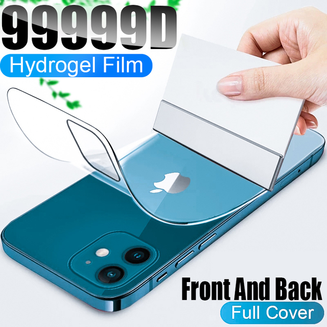 Full Cover Hydrogel Film For iPhone 11 12 Pro Max mini XR X XS Screen Protector For iPhone 6 6s 7 8 Plus SE 2020 Film Not Glass 1