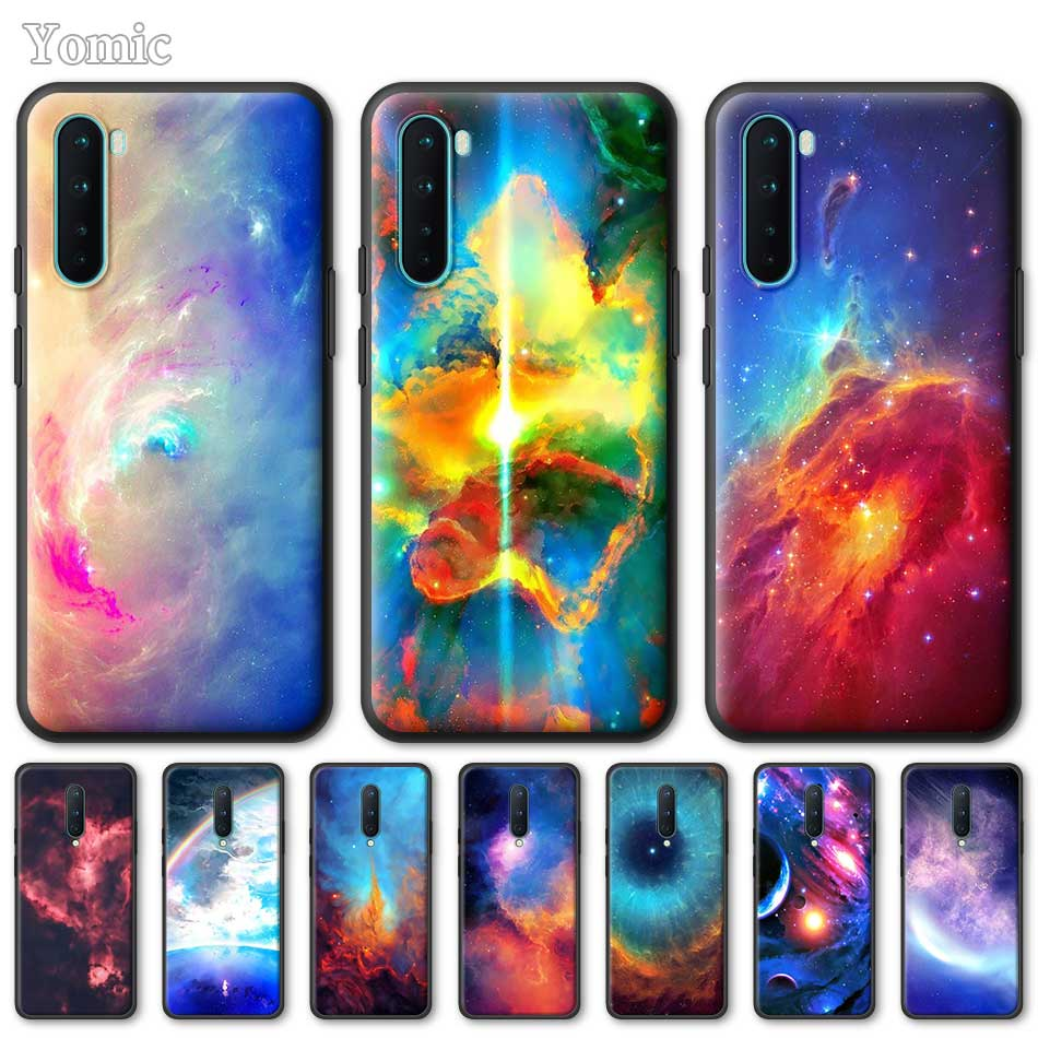 Silicone Phone Case For OnePlus Z 8 Nord 6T 6 7 7T Pro 5G Black Soft Coque Universe Space Nebula TPU Cover Shell