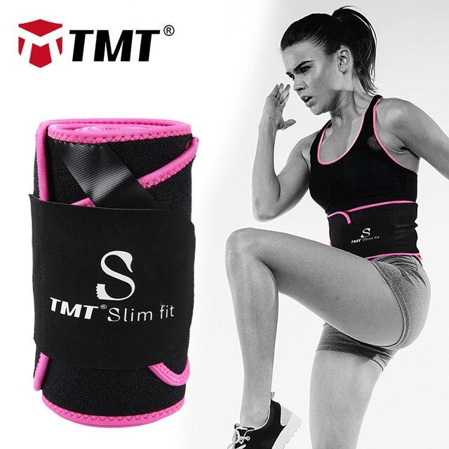 TMT Gym Waist Trimmer Support Belt Fitness Waist Trainer With Phone for Pocket Shaper Slim Weight Loss Sweat Band Lumbar Brace