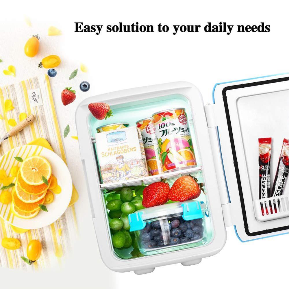 Ultra Quiet Low Noise Refrigerators Portable Freezer Heating & Cooling Multifunction Fridge Cosmetic Refrigerators 12-220V