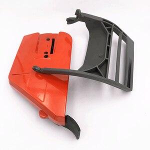 Image 3 - Capa de embreagem para roda de caça, peça de proteção frontal tensor de alavanca de freio para husqvarna 365 371 372 372xp 362