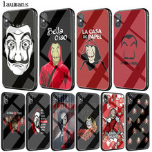 Spain TV La Casa de papel Tempered glass TPU Case for iPhone XS Max XR X Money Heist cover cases for iphone 8 7 6 6S Plus coque(China)