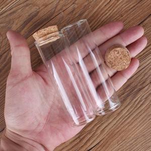 Image 3 - 24 adet 50ml boyutu 30*100mm Test tüpü mantar tıpa ile baharat şişeleri saklama kavanozları şişeler DIY zanaat