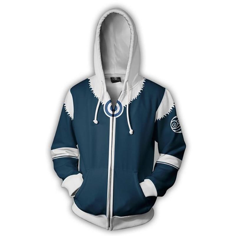 Men Women Avatar: Last Airbender Costumes Hoodies 3D Printing Cosplay Zipper Fashion Flame Sweatshirts Spring Autumn Jackets 4