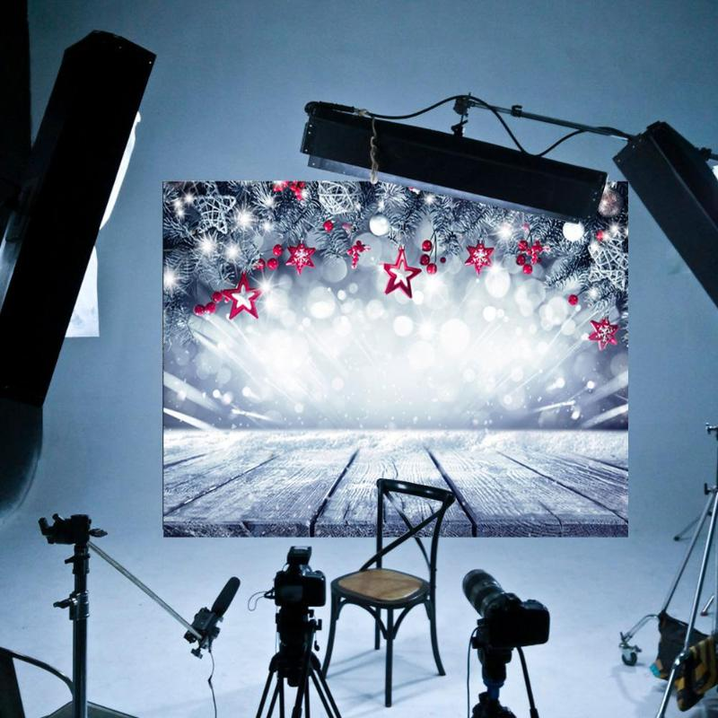 Hot Sale Background Cloth Multi-function Christmas Star Background Cloth Shining Wooden Board Photography Backdrop Decor(China)