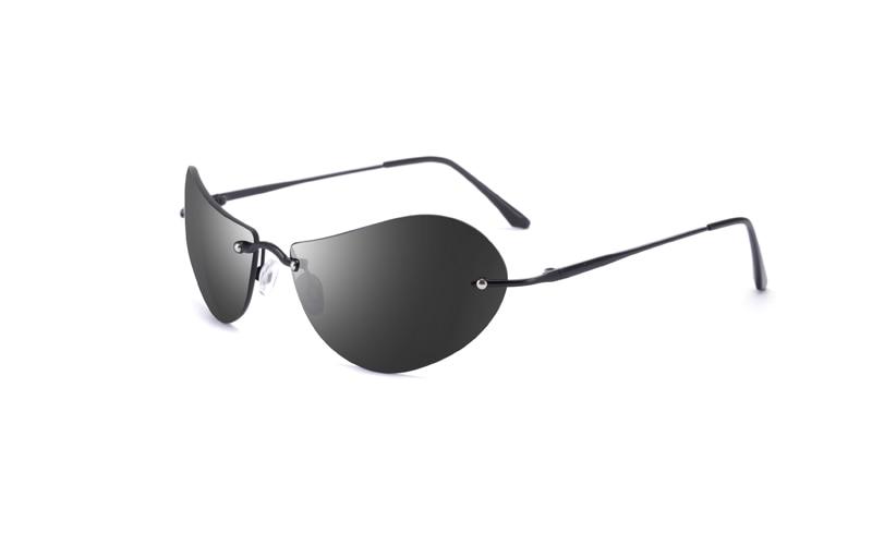 Купить очки солнцезащитные мужские без оправы 139 г