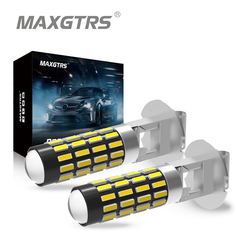 2X высокой мощности DRL лампы 6500K белый H1 H3 881 880 H27 светодиодный Сменные лампы для автомобильных противотуманных фар Дневные ходовые огни 12 В