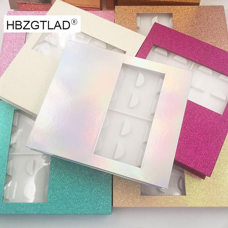 NEW 1/5/15set Eyelash Storage Book Packaging Box 3d Mink Lashes Boxes Eyelashes Sample Catalog Display Card