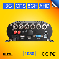 Online 3G mobile DVR, 8channel hard disk CAR DVR with 3G+GPS function, real time video on PC/ Iphone Monitoring Recorder for bus