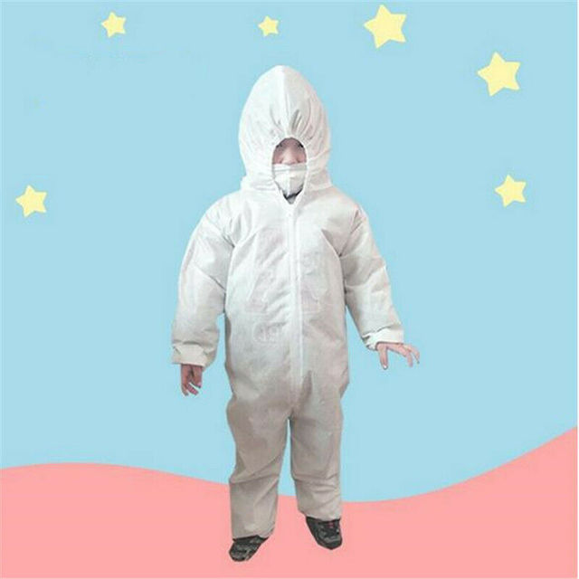 Anti-virus PPE Baby Kids Safety Clothing Dust Suit Disposable Overall Protection Clothing Fast Shipping 2