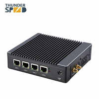 ¡Envío gratuito con DHL envío! Nueva llegada sin ventilador Barebone 4 LAN Pfsense Quad Core Firewall Mini PC