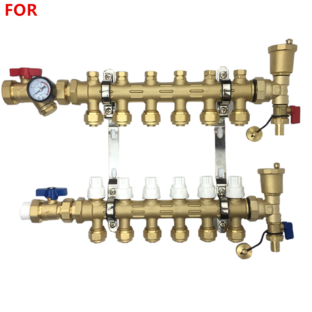 Brass Forging Integrated Intelligent Water Separator Floor Heating Sub-collector Floor Heating Special Pipe