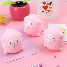 1pcs Sheep Kneading Ball Toy Ball Stress Toy Squeezable Stress Squishy Toy Stress Relief Ball Anti-stress Toys(China)